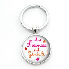 """Porte-clé """"Ma Nounou est Géniale"""" Cadeau de Fin d'Année d'École"""