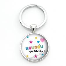 """Porte-clé """"Nounou qui Déchire"""" Cadeau de Fin d'Année d'École"""