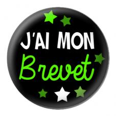 """Cabochon en Résine à Coller """"J'ai mon Brevet"""" 25mm"""