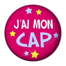 """Cabochon en Résine à Coller """"J'ai mon CAP"""" 25mm"""