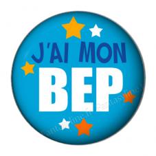 """Cabochon en Résine à Coller """"J'ai mon BEP"""" 25mm"""