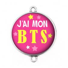 """Connecteur Cabochon en Résine """"J'ai mon BTS"""" 25mm"""