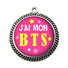 """Pendentif Cabochon en Résine """"J'ai mon BTS"""" 25mm"""