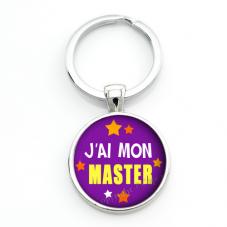 """Porte-clé """"J'ai mon Master"""" Idée Cadeau Réussite Diplôme Examen"""