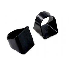 Support Bague Ajustable Noire Plateau Carré 20mm
