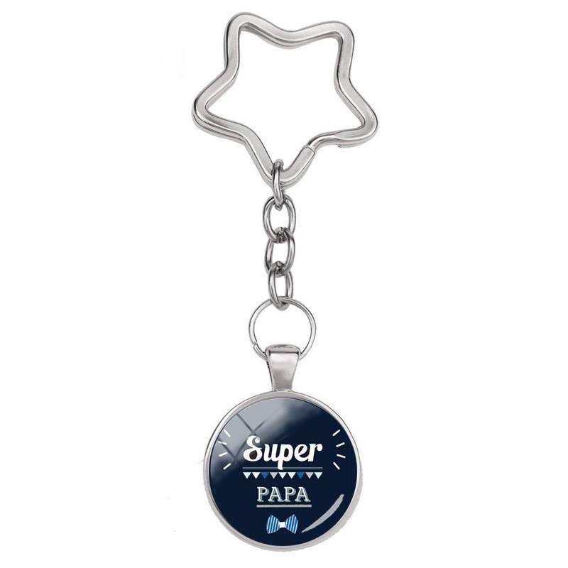 """Porte-clé """"Super Papa"""" Cadeau Papa Fête des Pères"""