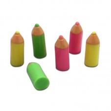 4 Cabochons Miniatures Crayons École en Résine 18mm pour la Création de Bijoux Fantaisie - DIY