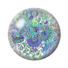 Cabochon en Verre Illustré Fleurs Papillons 12 à 25mm pour la Création de Bijoux Fantaisie - DIY