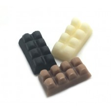 3 Cabochons Tablette de Chocolat Miniature en Fimo 14x7mm