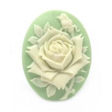 Camée Cabochon Fleur Rose Haute Qualité AAAA+ 30x40mm