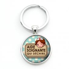 "Porte-clé ""Aide-Soignante qui Déchire"" Cadeau Original Humour"