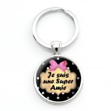 """Porte-clé """"Je suis une Super Amie"""" Cadeau Original Humour Retraite"""