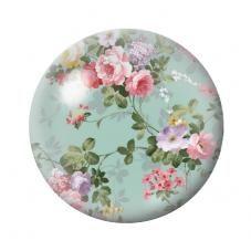 Cabochons en Verre Illustré Fleurs Liberty 18, 20 ou 25mm