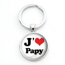 """Porte-clé """"J'aime Papy"""" Cadeau Fête des Grands-Pères Anniversaire Noël"""
