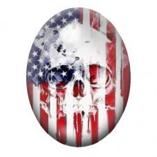 Cabochon en Verre Illustré Crâne Tête de Mort Gothique 13x18, 18x25 ou 30x40mm pour la Création de Bijoux Fantaisie - DIY