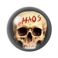 Cabochon en Verre Illustré Crâne Tête de Mort Gothique 12 à 25mm