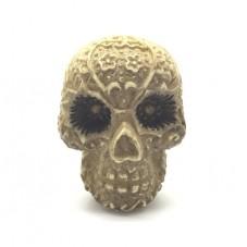 Cabochon en Relief Tête de Mort Crâne en Résine 30x40mm pour la Création de Bijoux Fantaisie - DIY