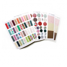 6 Planches d'Autocollants Scrapbooking Washi Masking Tape
