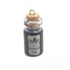 Breloque Fiole en Verre Kraken Gothique Fimo 25mm pour la Création de Bijoux Fantaisie - DIY