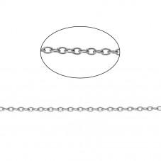 2 Mètres de Chaine Fine à Mailles en Acier Inoxydable Argenté 1,5mm