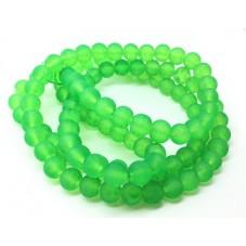 110 Perles en Verre Translucide Vert Fluo 8mm pour la Création de Bijoux Fantaisie - DIY
