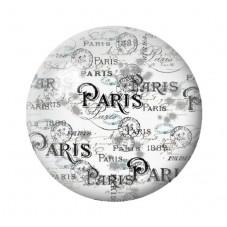 Cabochon en Verre Illustré Paris Vintage 12 à 25mm pour la Création de Bijoux Fantaisie - DIY