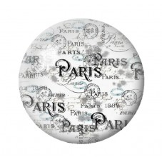Cabochon en Verre Illustré Paris Vintage 18, 20 ou 25mm