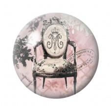 Cabochon en Verre Illustré Fauteuil Vintage 12 à 25mm