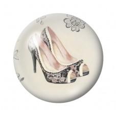 Cabochon en Verre Illustré Chaussures à Talon Vintage 12 à 25mm