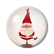 Cabochon en Verre Illustré Père-Noël 12 à 25mm