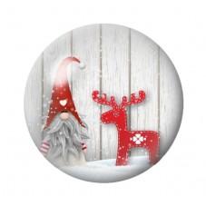 Cabochon en Verre Illustré Lutin Père-Noël 12 à 25mm