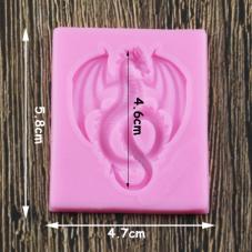 Moule en Silicone Dragon 4,6cm Fimo Résine Gâteau