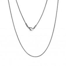 Collier Chaîne Serpentine Fine Argentée 1,2mm en Acier Inoxydable - 41cm Long pour la Création de Bijoux Fantaisie - DIY