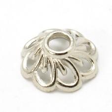 10 Coupelles Calottes pour Perles Argenté 9mm pour la Création de Bijoux Fantaisie - DIY