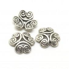 10 Coupelles Calottes pour Perles Argenté 13mm  pour Perles pour la Création de Bijoux Fantaisie - DIY