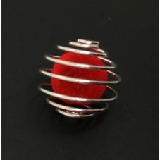 5 Perles Spirale Cage Argenté 21x20mm pour la Création de Bijoux Fantaisie - DIY