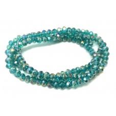 145 Perles à Facettes Bleu en Verre 4mm pour la Création de Bijoux Fantaisie - DIY