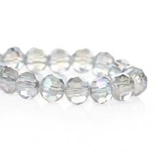 100 Perles en Verre à Facettes Transparent 6mm