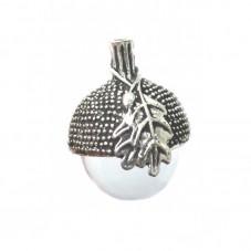 Globe en Verre avec Calotte Gland Chêne Argenté pour la Création de Bijoux Fantaisie - DIY