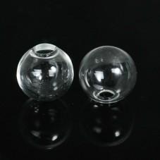 2 Globes en Verre 14mm pour Création de Bijoux DIY