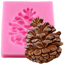 Moule en Silicone Pomme de Pin Savon Fimo Résine Gâteau