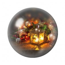 Cabochon en Verre Illustré Lampe Noël 12 à 25mm