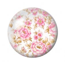 Cabochon en Verre Illustré Fleurs 12 à 25mm