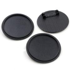 Support Broche Noir pour Cabochon 30mm