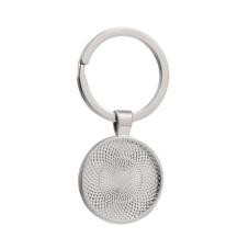Support Porte-Clé Argenté pour Cabochon 25mm pour la Création de  Bijoux Fantaisie - DIY
