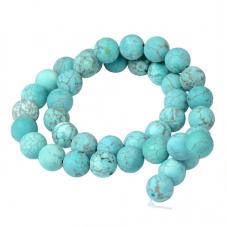 4 Perles Pierre Naturelle Turquoise 10mm pour la Création de Bijoux Fantaisie - DIY