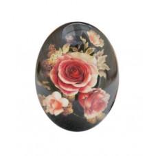 Cabochon en Verre Illustré Fleurs pour Cabochon 30x40mm