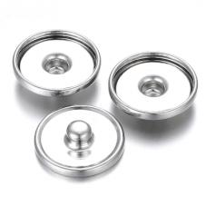 10 Supports Bouton Pression Snap pour Cabochon 10mm pour la Création de Bijoux Fantaisie - DIY