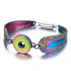 Support Bracelet en Métal pour Bouton Snap 18mm