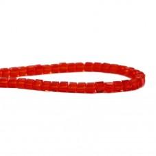 100 Perles Carrées en Verre à Facettes Rouge 3mm pour la Création de Bijoux Fantaisie - DIY